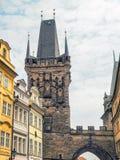 Πύργος γεφυρών στην περιοχή Mala Strana στην Πράγα, Δημοκρατία της Τσεχίας Στοκ εικόνα με δικαίωμα ελεύθερης χρήσης
