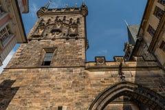 Πύργος γεφυρών του Charles, πλευρά Mala Strana, Πράγα Στοκ Φωτογραφία