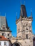 Πύργος γεφυρών του Charles στην Πράγα Στοκ Εικόνα