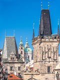 Πύργος γεφυρών του Charles στην Πράγα Στοκ Εικόνες