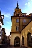 Πύργος εκκλησιών με ένα ρολόι Στοκ φωτογραφίες με δικαίωμα ελεύθερης χρήσης