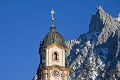 πύργος εκκλησιών mittenwald Στοκ Φωτογραφία