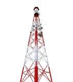 Πύργος επικοινωνίας με τις κεραίες Στοκ φωτογραφία με δικαίωμα ελεύθερης χρήσης