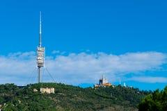 Πύργος επικοινωνίας Collserola στοκ φωτογραφία με δικαίωμα ελεύθερης χρήσης