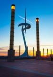 Πύργος επικοινωνιών Montjuic, Βαρκελώνη. Στοκ Φωτογραφίες
