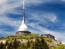 Πύργος επιφυλακής Jested, Liberec, Δημοκρατία της Τσεχίας στοκ εικόνα με δικαίωμα ελεύθερης χρήσης