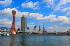 Πύργος λιμένων του Kobe με τον όμορφο ουρανό Στοκ εικόνα με δικαίωμα ελεύθερης χρήσης