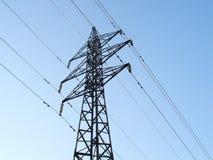 πύργος ισχύος γραμμών Στοκ Εικόνες