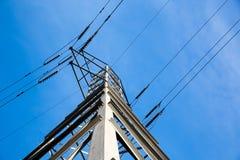 Πύργος και γραμμές ηλεκτρικής δύναμης Στοκ Εικόνες