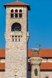 Πύργος και ελάφια Ρόδος, Ελλάδα Στοκ φωτογραφία με δικαίωμα ελεύθερης χρήσης