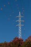Πύργος και ηλεκτροφόρο καλώδιο με diverter Στοκ φωτογραφία με δικαίωμα ελεύθερης χρήσης