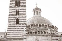 Πύργος και θόλος καθεδρικών ναών στη Σιένα, Ιταλία Στοκ Εικόνα