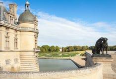 Πύργος και κήποι κάστρων Chantilly Στοκ φωτογραφίες με δικαίωμα ελεύθερης χρήσης