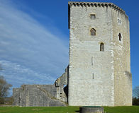 Πύργος και καταστροφές του μεσαιωνικού κάστρου Moncade σε Orthez Στοκ Εικόνα