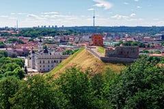 Πύργος και οι μεγάλοι δούκες το χαμηλότερο Castle σε Vilnius Λιθουανία Στοκ Φωτογραφία