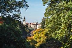 Πύργος και πάρκο Pruhonice στη Δημοκρατία της Τσεχίας Στοκ Φωτογραφία