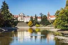 Πύργος και πάρκο Pruhonice στη Δημοκρατία της Τσεχίας Στοκ Εικόνα