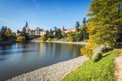 Πύργος και πάρκο Pruhonice στη Δημοκρατία της Τσεχίας Στοκ εικόνα με δικαίωμα ελεύθερης χρήσης