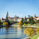 Πύργος και πάρκο Pruhonice στη Δημοκρατία της Τσεχίας Στοκ φωτογραφίες με δικαίωμα ελεύθερης χρήσης