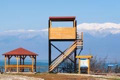 Πύργος και περίπτερο παρατήρησης πουλιών στοκ φωτογραφίες