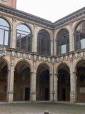 πύργος και προαύλιο του παλατιού Archiginnasio - ο πρώτος ανώτερος υπάλληλος Στοκ φωτογραφίες με δικαίωμα ελεύθερης χρήσης