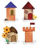Πύργος και σπίτια κινούμενων σχεδίων Στοκ φωτογραφίες με δικαίωμα ελεύθερης χρήσης