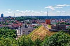Πύργος και το χαμηλότερο Castle σε Vilnius στη Λιθουανία Στοκ φωτογραφία με δικαίωμα ελεύθερης χρήσης