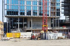 πύργος κατασκευής τούβλων ανασκόπησης Στοκ φωτογραφία με δικαίωμα ελεύθερης χρήσης