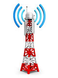 Πύργος κεραιών τηλεπικοινωνιών διανυσματική απεικόνιση