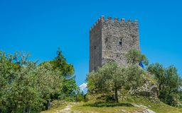 Πύργος Κικέρωνα ` s σε Arpino, αρχαία πόλη στην επαρχία Frosinone, Λάτσιο, κεντρική Ιταλία Στοκ φωτογραφία με δικαίωμα ελεύθερης χρήσης