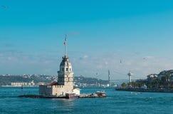 Πύργος κοριτσιών ` s στη Ιστανμπούλ της Τουρκίας Στοκ Εικόνες