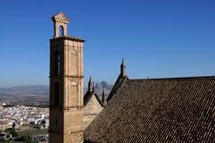 Πύργος κουδουνιών εκκλησιών Παναγίας, Antequera, Ισπανία. Στοκ φωτογραφίες με δικαίωμα ελεύθερης χρήσης