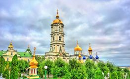 Πύργος κουδουνιών ιερού Dormition Pochayiv Lavra σε Ternopil Oblast, Ουκρανία Στοκ φωτογραφίες με δικαίωμα ελεύθερης χρήσης