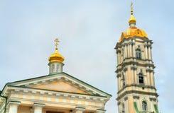 Πύργος κουδουνιών ιερού Dormition Pochayiv Lavra σε Ternopil Oblast, Ουκρανία Στοκ φωτογραφία με δικαίωμα ελεύθερης χρήσης