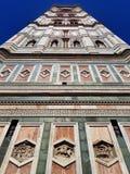 Πύργος κουδουνιών καθεδρικών ναών της Φλωρεντίας Ιταλικό μαρμάρινο αριστούργημα στοκ εικόνα