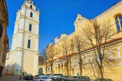 Πύργος κουδουνιών της εκκλησίας του ST John ` s στην οδό SV Jono στο histo Στοκ φωτογραφία με δικαίωμα ελεύθερης χρήσης