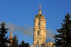 Πύργος κουδουνιών του ιερού Dormition Pochayiv Lavra Στοκ φωτογραφίες με δικαίωμα ελεύθερης χρήσης