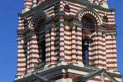 Πύργος κουδουνιών του καθεδρικού ναού Annunciation σε Kharkov τεμάχιο Στοκ φωτογραφία με δικαίωμα ελεύθερης χρήσης