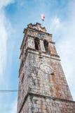 Πύργος κουδουνιών εκκλησιών στο χωριό Blato σε Korcula στην Κροατία Στοκ φωτογραφία με δικαίωμα ελεύθερης χρήσης