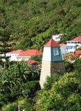 Πύργος κουδουνιών σε Gustavia, ψαρονέτη του ST Στοκ φωτογραφία με δικαίωμα ελεύθερης χρήσης