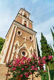 Πύργος κουδουνιών στο μοναστήρι του ST Nino σε Bodbe Sighnaghi Γεωργία Στοκ Φωτογραφίες