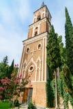 Πύργος κουδουνιών στο μοναστήρι του ST Nino σε Bodbe Sighnaghi Γεωργία Στοκ Εικόνες