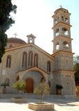 Πύργος κουδουνιών της εκκλησίας στην Ελλάδα Στοκ Φωτογραφία