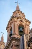 Πύργος κουδουνιών της εκκλησίας του ναυαγίου του ST Paul, Valletta Στοκ φωτογραφία με δικαίωμα ελεύθερης χρήσης