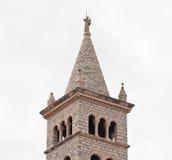 Πύργος κουδουνιών της εκκλησίας του ST Anthony (Anthony της Πάδοβας). Pula Στοκ φωτογραφία με δικαίωμα ελεύθερης χρήσης