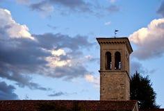 Πύργος κουδουνιών του ST Pietro και St.Biagio, Cividale del Friuli Στοκ φωτογραφία με δικαίωμα ελεύθερης χρήσης