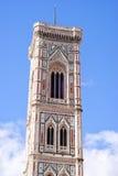 Πύργος κουδουνιών Giotto, λεπτομέρεια, Φλωρεντία, Ιταλία Στοκ Εικόνα