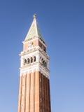 Πύργος κουδουνιών SAN Marco, Βενετία Στοκ εικόνα με δικαίωμα ελεύθερης χρήσης