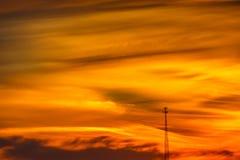 Πύργος κυττάρων ηλιοβασιλέματος Στοκ Εικόνες