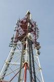 Πύργος με τις κεραίες Στοκ φωτογραφίες με δικαίωμα ελεύθερης χρήσης
